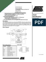 Atmel AT24RF08C EEPROM Data Sheet