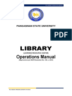PSU Library Operations Manual