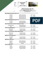 2010 Paramus Summer Schedule