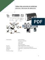 Informe de fallas más comunes en sistemas electromecánicos y técnicas de detección