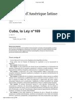 Cuba, la Ley n°169.pdf