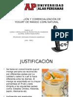 Fabricación y Comercialización de Yogurt de Mango 100