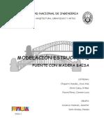 Puente Estructural de Madera Balsa