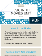 music in the movies unit-presentation