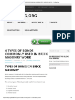 4 Types of Bonds Commonly Used in Brick Masonry Work - Civilblog