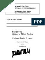 Metodos de Estudio Bilico Formato Del Proyecto Final