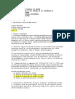 avaliação anatomia 2014.2