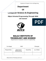 Object Oriented Programming Labmanual Jntu