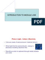 INTRODUCTION to Solar Module Line