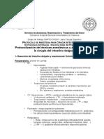 Protocolos Anestesia Cirugia Digestivo Anestesia Cirugia Intestino Delgado