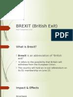 BREXIT (British Exit)