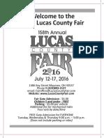 2016 Lucas County Fair Book