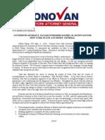 Governor Pataki Endorses Donovan for AG