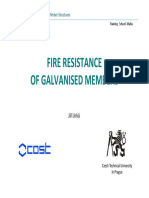 Fire Resistance of Galvanised Members