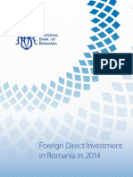 BNR - Foreign Direct Investment   in Romania in 2014