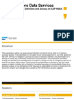 CDS Views Presented in SAP TechEd 2015