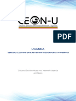 Report on Uganda's 2016 elections by Citizens Election Observers Network-Uganda