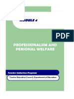 module 4 professionalism and personal welfare