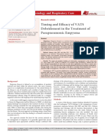 Timing and Efficacy of VATS Debridement in the Treatment of Parapneumonic Empyema
