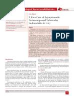 A Rare Case of Asymptomatic Postmenopausal Tubercular Endometritis in Italy