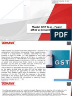 Model GST Law Feast After a Decade Long Fast