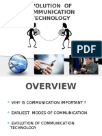 Evolution of Communication Technology