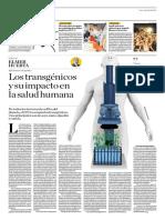 Los Transgéniocos y Su Impacto en La Salud Humana