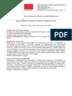 1_Métodos de Pesquisa de Satisfação de Clientes Um Estudo Bibliométrico - PORTUGUÊS
