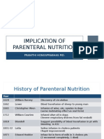 Implication of Parenteral Nutrition