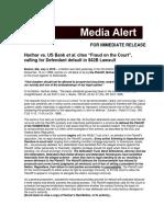 "Harihar vs. US Bank et al. cites ""Fraud on the Court"", calling for Defendant default in $42B Lawsuit"