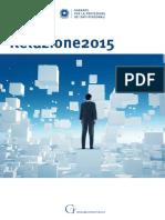 Privacy - Relazione annuale 2015