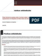Informe Practicas Antisindicales Semestre 1 2016