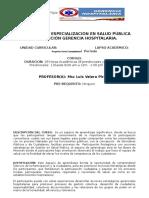 Programa Analitico de Politicas Gerenciales Comunitaria O