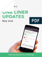 One Liner Updates May 2016