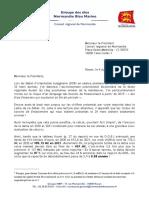 Lettre Hervé Morin