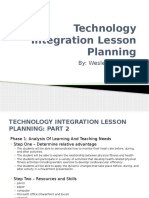 technology integration lesson planning 1