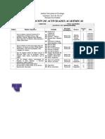 Planificación de Actividades Académicas 2014-2