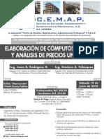 Curso ELABORACIÓ DE CÓMPUTOS MÉTRICOS Y ANÁLISIS DE PRECIOS UNITARIOS