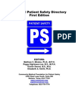 The National Patient Safety Directory_Cover Page and Table of Contents