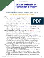 PHD ONLINE Application Procedure