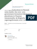 Raeijmaekers & Maeseele Ideologisch Pluralisme in Vlaamse Nieuwsmedia