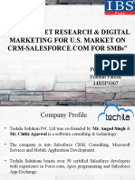 B2B MARKET RESEARCH & DIGITAL MARKETING FOR U.S. MARKET ON CRM-SALESFORCE.COM FOR SMBs