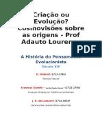 Criação Ou Evolução