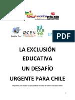 La Exclusion Educativa, Desafio Urgente Para Chile