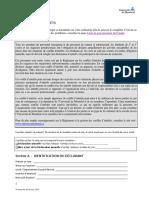 Formulaire Declaration Interets