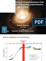 The predominance of infrared emission from the polar region of accreting supermassive black holes