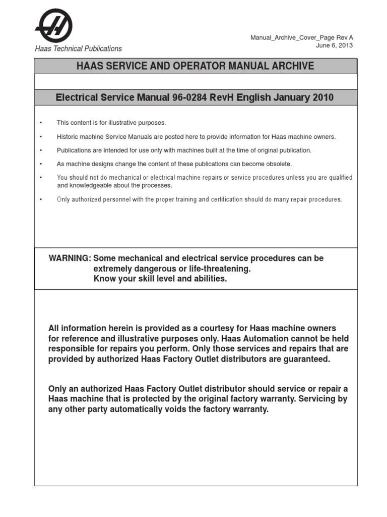 Haas Vmc Electrical Service Manual