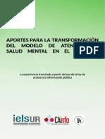 Aportes para la transformación del modelo de atención en Salud Mental en el Uruguay