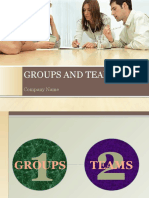 Groups and Teams