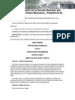 16-06-16 Ley Nacional del Sistema Integral de Justicia Penal para Adolescentes.